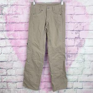 Kuhl beige khaki women's hiking cargo pants 2